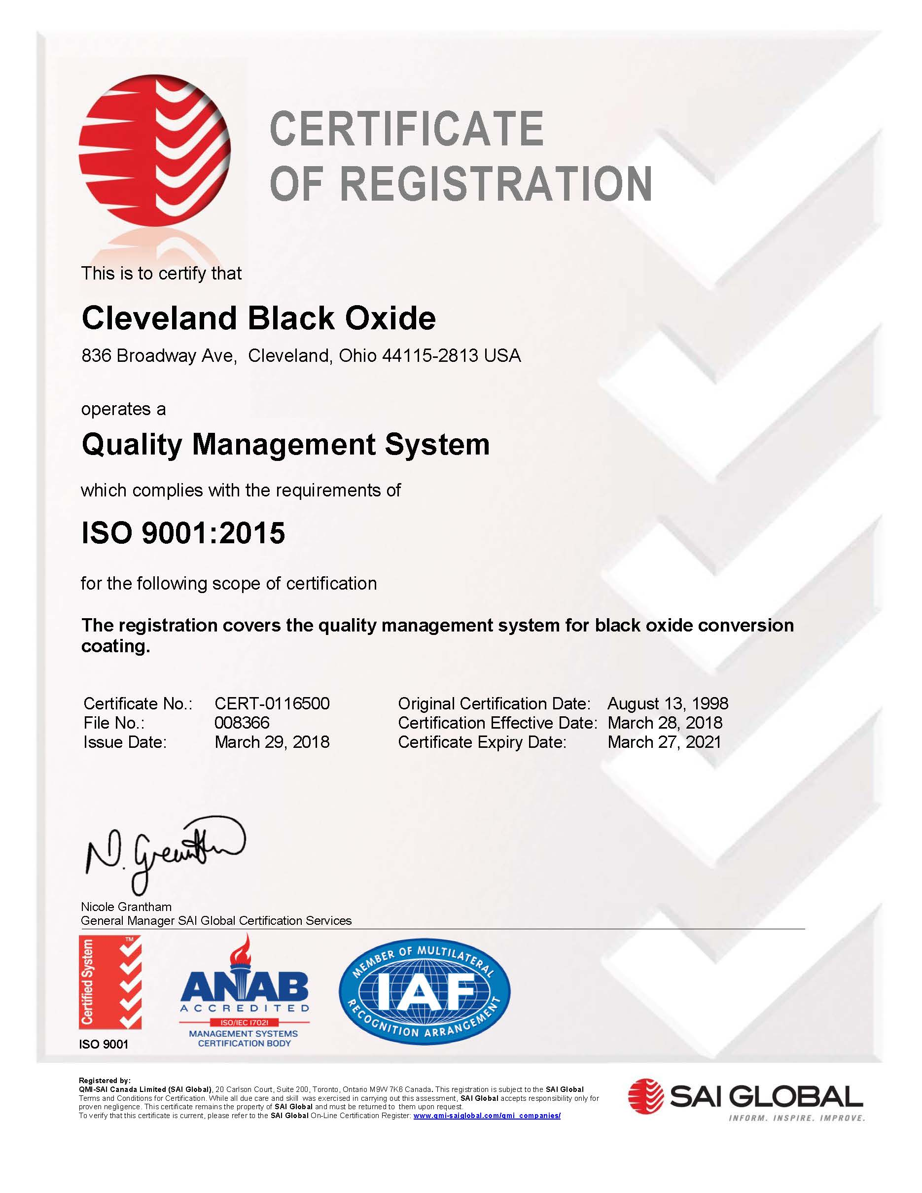 ISO 9001 Certified Companies | REACH Compliance | RoHS Compliance